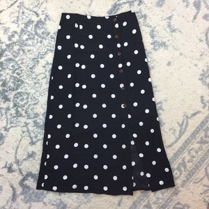 NWT Free People Polka Dot Button Front Skirt